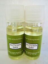 Bath Body Works White Barn AUTUMN DAY Home Fragrance Oil, NEW x 2