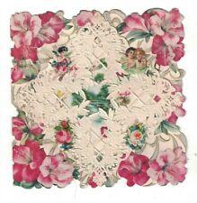 Love's Dream Vintage Valentine's Day Card Cherubs Flowers