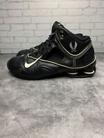 Nike Shox Flight Basketball Shoes Mens Size 9.5 Black White 312744-011