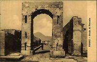 Pompeji Italien Italia Kampanien alte AK ~1910 Strada di mercurio Ruinen Straße