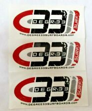 "Lot of 4 Degree 33 Surfboards Decals Stickers 5.75""Wide X 2.5""Tall"
