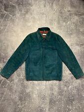 Balmain Suede Jacket Emerald Luxury Vintage Rare Bomber Harrington Men Size-S