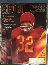 DECEMBER 1968 SPORT MAGAZINE O.J. SIMPSON IN QUEST OF ALL THE PRIZES USC