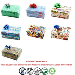 Pass the parcel BOYS 8 to 16 layers + Main Prize Toy and Sweet in each layer