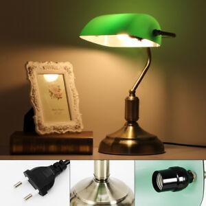 220V Schreibtischlampe Tischleuchte Bibliothekslampe Bankerlampe Leuchte Light