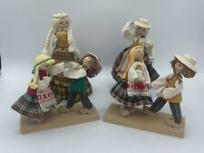 Vintage Wooden Dolls Lithuanian folk traditional dress ANDO Doll Lot Lithuania