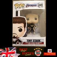 Funko POP! Tony Stark 449 Avengers Vinyl Figure NEW FREE PROTECTOR