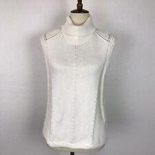 Helmut Lang Women Sz P Sweater Pullover Turtleneck Mixed Weave