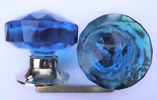 BLU POMELLO PORTA GRANDE tagliare il vetro (Un) a base di cromo stile vintage