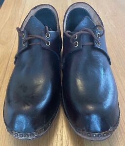 Traditional Hand Made Clogs Size 9