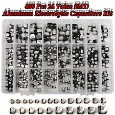 400Pcs 1uF-1000uF SMD Aluminum Electrolytic Capacitors Assortment 24 Value Kit