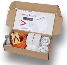 CAT6 10GB Netzwerk Installationsset für Haus und Büro 10teilig CAT7 Kabel 50m