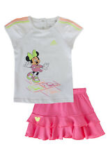 Adidas Disney Mini Infant Girls Set T-Shirt and Skirt Full Set Baby Kids S22057