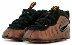 Nike Lil Posite Pro CB SIZE 4C- 643145-800 Crimson Little Foamposite Crib Bootie