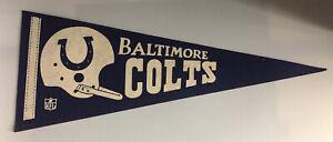 """1960 Baltimore Colts pennant 7x18"""" Excellent Conditon Unitas Shula"""