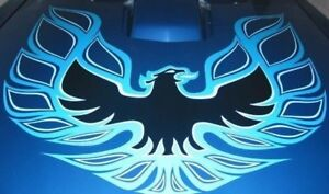 1973-1978 TRANS AM COMPLETE DECAL KIT W/ ONE PIECE HOOD BIRD - BLUE - USA MADE!