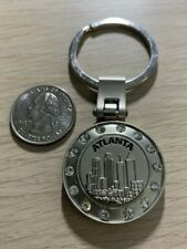 Atlanta Georgia Travel Souvenir Silver Tone Metal Keychain Key Ring #38003