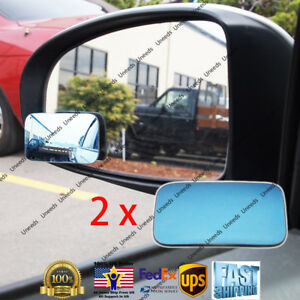 Blue Blind Spot Mirror Wide Angle Rear View Car Side Mirror for Jeep