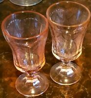 Indiana Glass MADRID Pink Depression Recollection Footed Goblet (Federal)