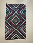Vintage Turkish Kilim 270x150 cm wool Kelim rug Large, Purple, Red, Black, Blue