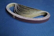 20 x Gewebe Schleifband 13x457 mm Schleifbänder für Powerfeile Schleifpapier