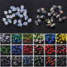 50pcs/200pcs 5x3mm Teardrop Faceted Crystal Glass Loose Spacer Beads Lots Making