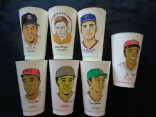 1970's MLB 7-11 Seven Eleven Baseball Trading Cups - Set of 7 Cups