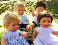 """14"""" Realistic Baby Doll with Down Syndrome Handmade Vinyl Toy Brunette Girl Doll"""