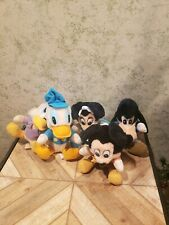 Mickey's Christmas Carol Vintage Plush Doll Lot Complete Set of Six 1984 Disney