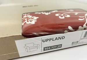 Ikea UPPLAND Chair Armchair Removable COVER ONLY Virestad Red/White - NEW