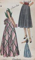 1940's Simplucity Vintage Sewing Pattern 2024 Skirt Waist 24