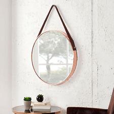 Runder Spiegel PORTRAIT 45 cm kupfer / braun Wandspiegel Badspiegel Dekoration
