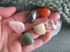 """NEW """"WEIGHT LOSS & CONFIDENCE"""" NATURAL CRYSTAL HEALING MEDITATION STONE SET OF 6"""