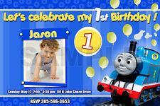 THOMAS THE TANK TRAIN 1ST BIRTHDAY PARTY INVITATION c2 cards - 14 designs!!