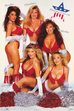 LOT OF 2 POSTERS :STARTING LINEUP - 5 SEXY FEMALE MODELS     #2173     RC3 Q