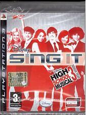SONY PS3 SING IT HIGH SCHOOL MUSICAL 3  NUOVO E SIGILLATO