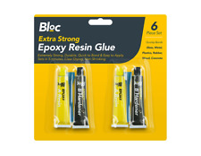 EPOXY GLUE ADHESIVE KIT REPAIR METAL CERAMIC RUBBER GLASS PLASTIC 2 PACK