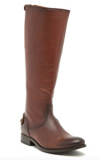 8*21 NEW Fry Melissa Button Back Zip Cognac Leather Boots Womens Size 7.5 M