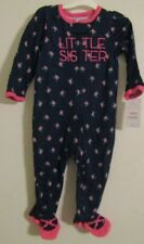 NEW! BABY Girl JUST ONE YOU BY CARTER'S 9 MONTH LITTLE SISTER FOOTED SLEEPER