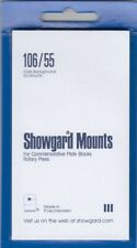 Showgard Stamp Mounts 106/55mm US 3c/4c Commemorative Blocks Black Free Post New
