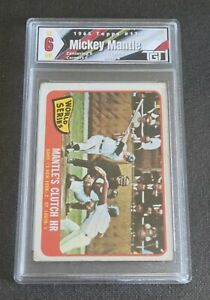 1965 Topps #134 World Series Game 3/Mickey Mantle TGT 6 NM