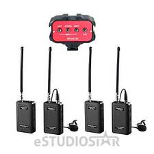 Saramonic Dual Wireless VHF Lavalier Mic Bundle w/2 TXs, 2 RXs & Audio Mixer NEW