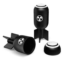 NUCLEAR BOMB SYMBOL TORPEDO SHOT GLASS ARMY AIR FORCE NAVY 4 SET LOT STEAMPUNK