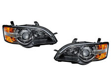 DEPO 2005-2006 Subaru Outback Replacement Black Projector Headlights Set