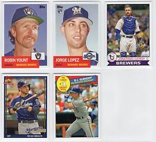 2016 Topps Archives Milwaukee Brewers MASTER Team Set (5 Cards)