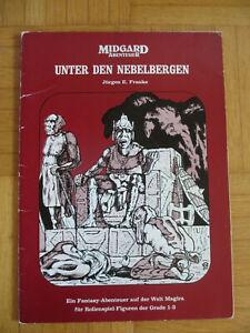 Seltenes Midgard Abenteuer 1 – Unter den Nebelbergen – 1. Auflage 1985 - Fantasy