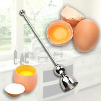 Stainless Steel Egg Shell Opener Topper Cutter Cracker Knocker Kitchen Home Tool