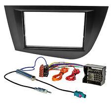 Radio diafragma set para Seat Leon 1p 2004-2009 adaptador doble DIN diafragma negro