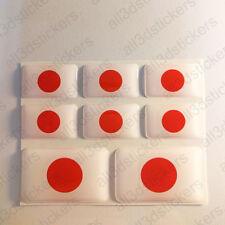 Autocollant Japon Drapeau 3D Résine Adhésif Relief Autocollants Japon Voiture
