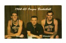 >orig. 1964-65 Oregon Ducks Basketball *Pocket Schedule* JIM BARNETT + Others!